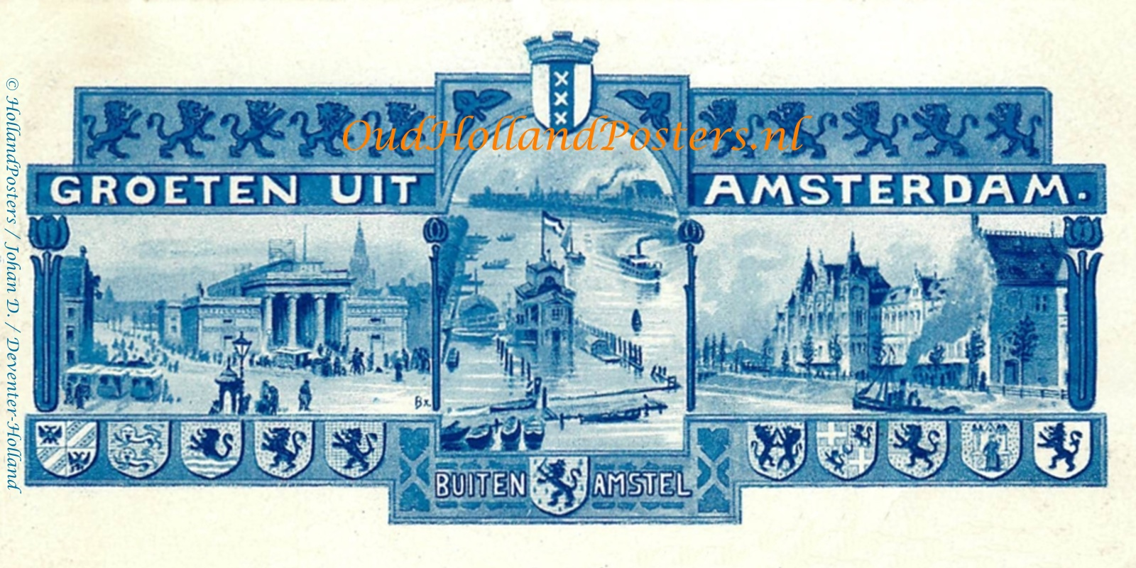 Amsterdam buiten amstel blauw poster ohp OA 63