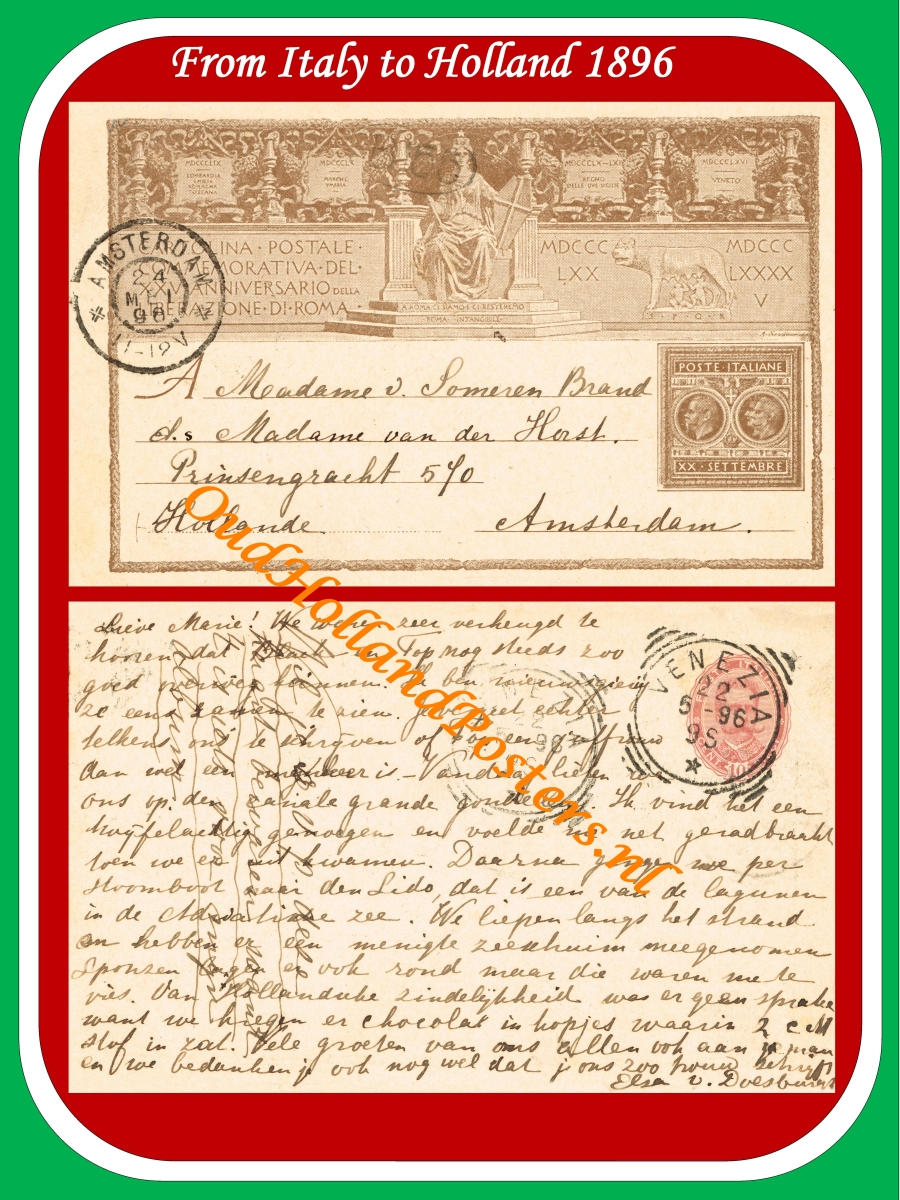 Italy to Holland 1896 it O 151 ohp
