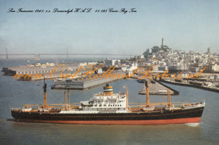 m.s. Diemerdyk at San Francisco 3 2 1961 steamer poster