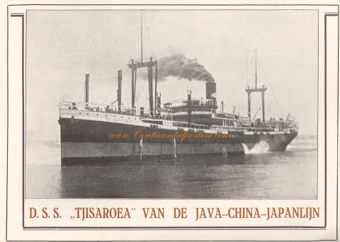 s s Tjisaroea van de java china japan lijn OA 105